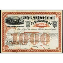 New York, New Haven and Hartford Railroad Co. Specimen Bond.