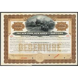 New York, New Haven and Hartford Railroad Co., 1906, Specimen Bond.