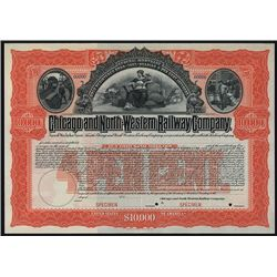 Chicago and North Western Railway Co., Specimen Bond.