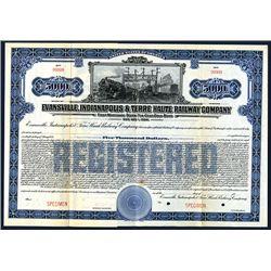 Evansville, Indianapolis & Terre Haute Railway Co., Specimen Bond.