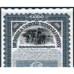 Louisville & Nashville Terminal Co. Specimen Bond.