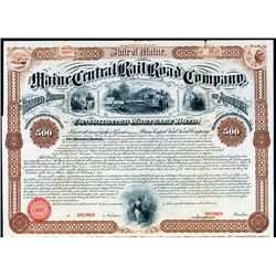 Maine Central Rail Road Co. Specimen Bond.