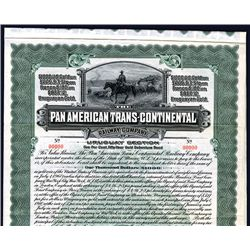 Pan American Trans-Continental Railway Co. Uruguay Section, 1910 Specimen Bond.
