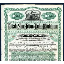 Toledo, Ann Arbor, and Lake Michigan Railway Co., Specimen Bond.
