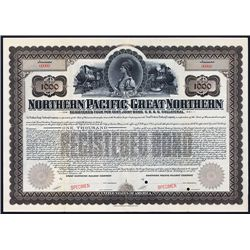 Northern Pacific-Great Northern Co.'s Specimen Bond.