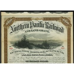 Northern Pacific Railroad and Land Grant, Specimen Bond.
