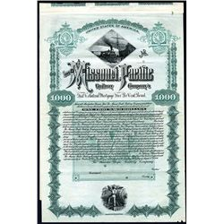 Missouri Pacific Railway Co., Specimen Bond.