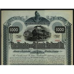 Omaha and St. Louis Railroad Co. Specimen Stock.