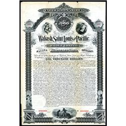 Wabash, Saint Louis and Pacific Railway Co., Specimen Bond.