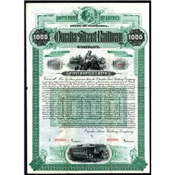 Omaha Street Railway Co., Specimen Bond.