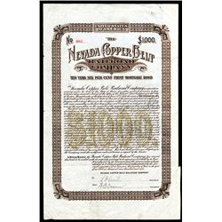Nevada Copper Belt Railroad Co., Issued Bond.