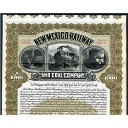New Mexico Railway and Coal Co., Specimen Bond.