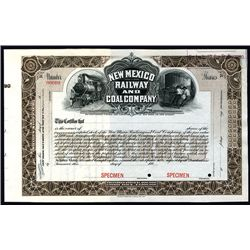 New Mexico Railway and Coal Co., Specimen Stock.