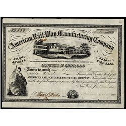 American Rail-Way Manufacturing Co. Issued Stock.