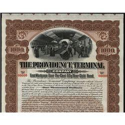 Providence Terminal Co., Specimen Bond.