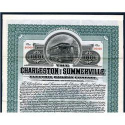 Charleston and Summerville Electric Co., Specimen Bond.