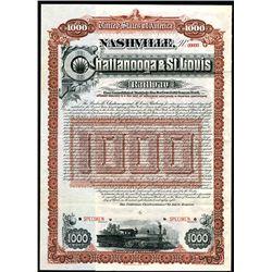 Nashville, Chattanooga & St. Louis Railway, Specimen Bond.