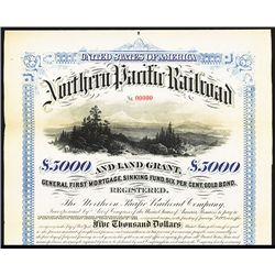 Northern Pacific Railroad and Land Grant Specimen Bond.