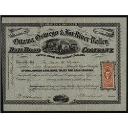 Ottawa, Oswego & Fox River Valley Rail Road Co. Issued Stock