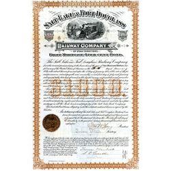 Salt Lake & Fort Douglass Railway Co., Issued Bond.