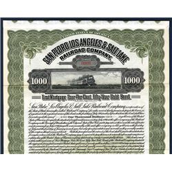 San Pedro, Los Angeles & Salt Lake Railroad Co., Specimen Bond.