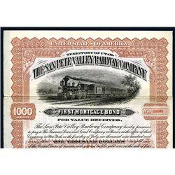 San Pete Valley Railway Co., Specimen Bond.