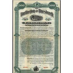 Burlington and Hinesburgh Railroad Co., Specimen Bond.