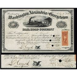 Washington, Alexandria and Georgetown Rail Road Co. Issued Stock.