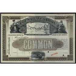 Chesapeake & Ohio Railway Co. Specimen Stock.