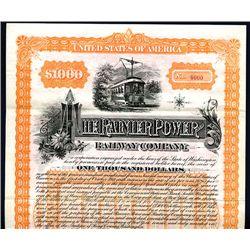 Rainier Power and Railway Co., Specimen Bond.