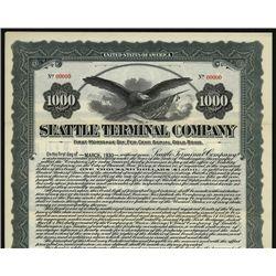 Seattle Terminal Co., Specimen Bond.