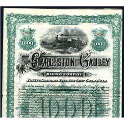 Charleston and Gauley Railway Co. Specimen Bond.