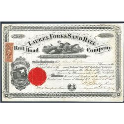 Laural Forks & Sand Hill Rail Road Co., Issued Stock.