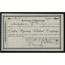 Eastern Wyoming Railroad Co., Issued Stock.