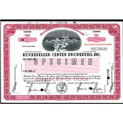 Rockefeller Center Properties, Inc. Specimen Stock.