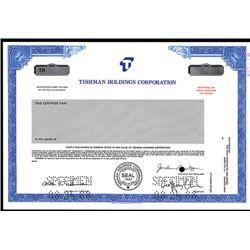 Tishman Holdings Corp., Specimen Stock.