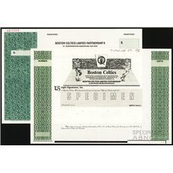 Boston Celtics Limited Partnership Specimen Stock.