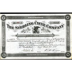 Sterling Cycle Co., Issued Stock.