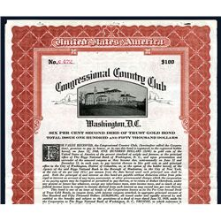 Congressional Country Club 1928 Issued Bond.
