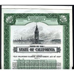 State of California, Specimen Bond.