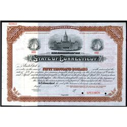 State of Connecticut, Specimen Bond.