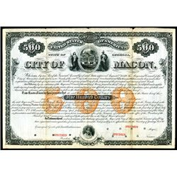 City of Macon Specimen Bond.