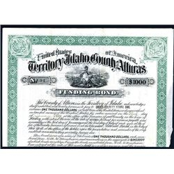 Territory of Idaho, County of Alturas, Issued Bond.