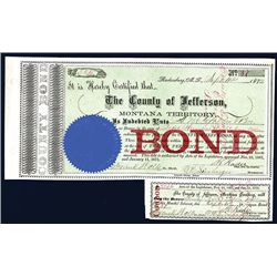 County of Jefferson, Montana Territory, Issued Bond.