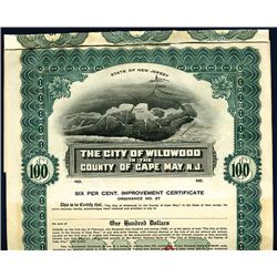 City of Wildwood in the County of Cape May, N.J., Specimen Bond.
