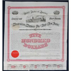 Manhattan Market Co. of the City of New York Issued Bond.