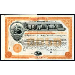 City of New York, Specimen Bond.