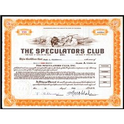 Speculators Club, Issued Stock.