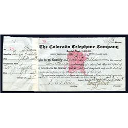 Colorado Telephone Co., Issued Stock.