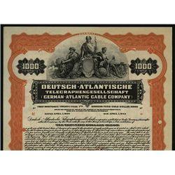 German-Atlantic Cable Co., Specimen Bond.